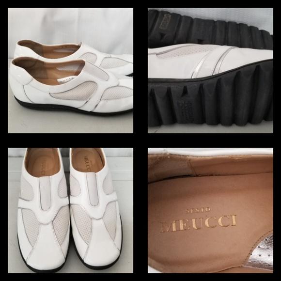 e40345861cf1c Sesto Meucci Shoes | 8m White Leather Hovercraft Gommus | Poshmark